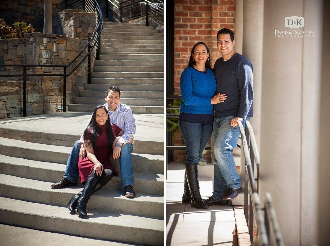 Reedy Riverwalk Greenville engagement photographs