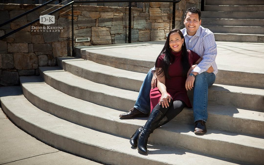 Downtown Greenville Riverwalk Engagement Photos | Diego & Cynthia