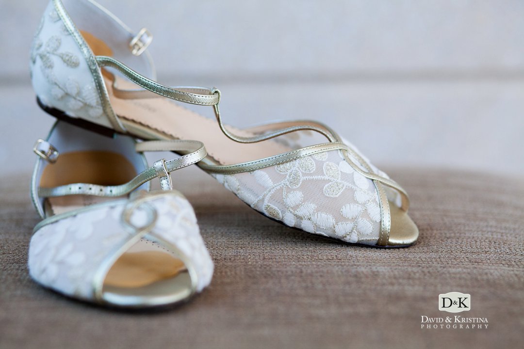 bride's flats wedding shoes