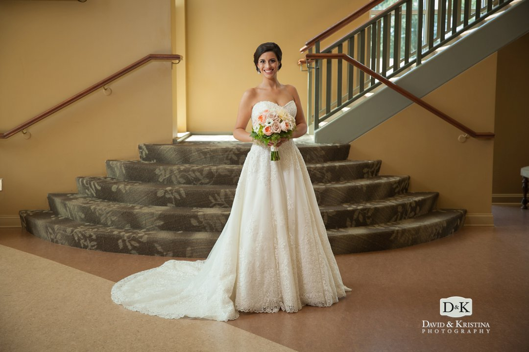 bride before wedding at simpsonville first baptist
