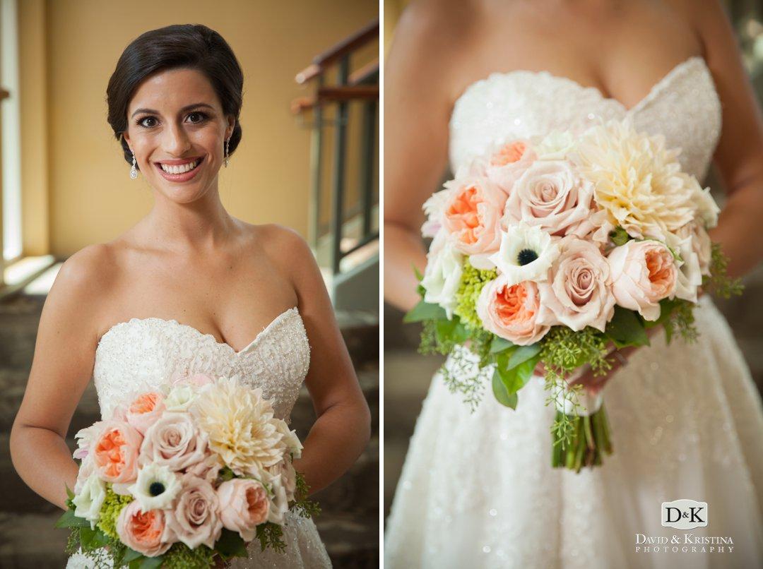 Dahlia florist bridal bouquet