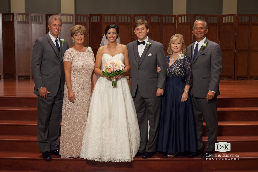 family group photos Simpsonville First Baptist wedding