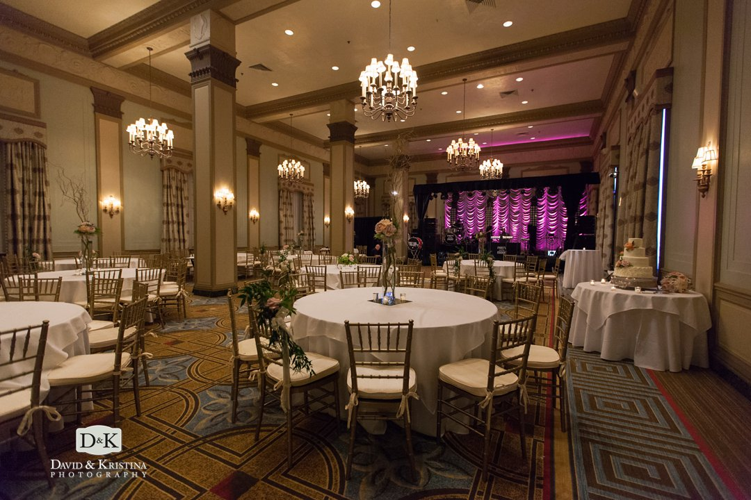 Westin Poinsett wedding reception in Poinsett ballroom