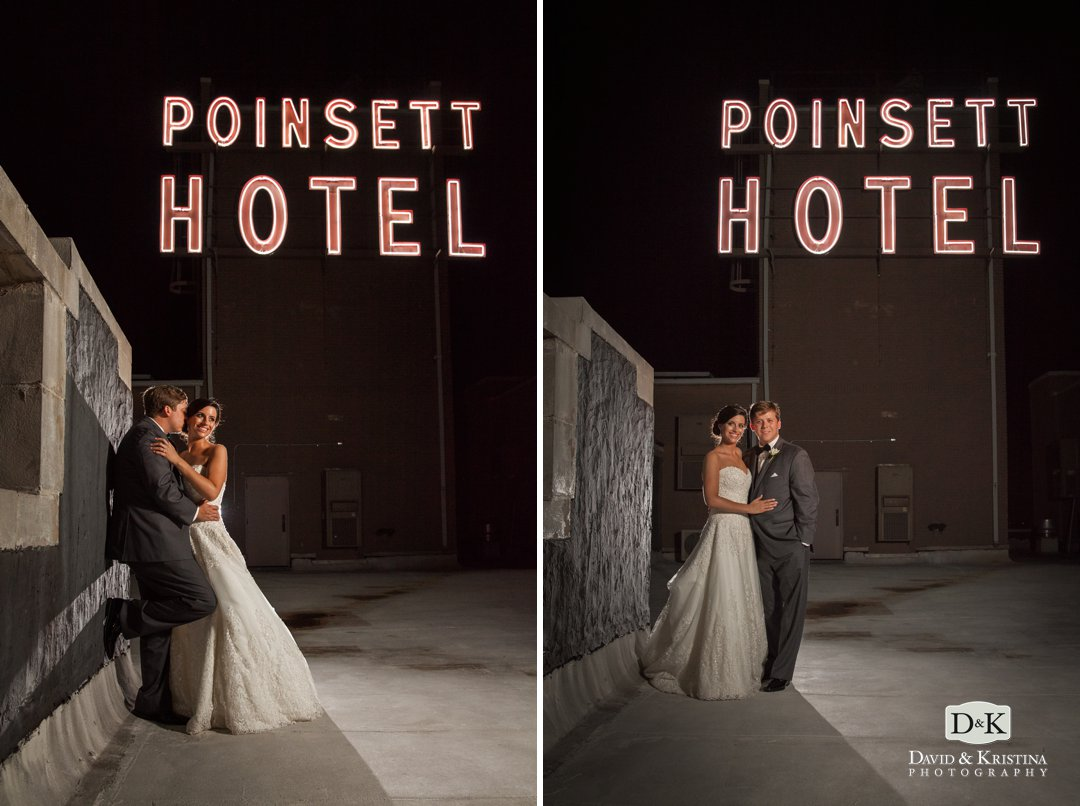 westin poinsett hotel rooftop wedding photo
