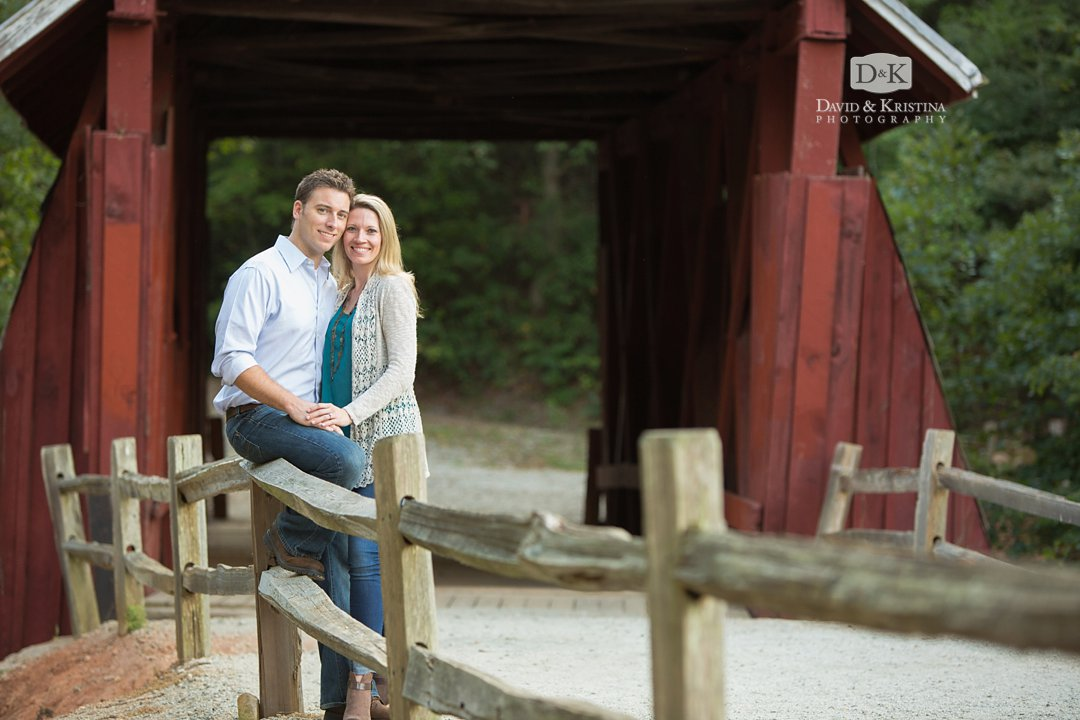 Campbell's Covered Bridge Engagement Photo Session