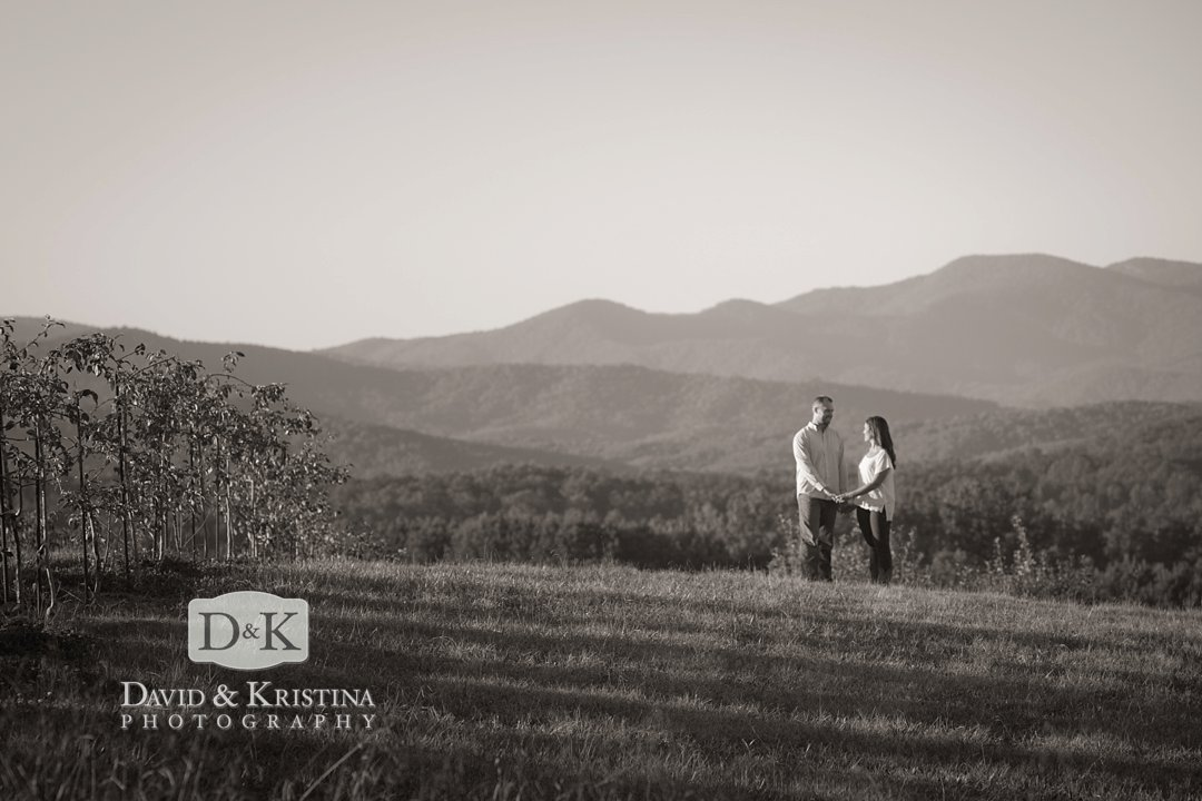 engagement photos mountains near Greenville SC