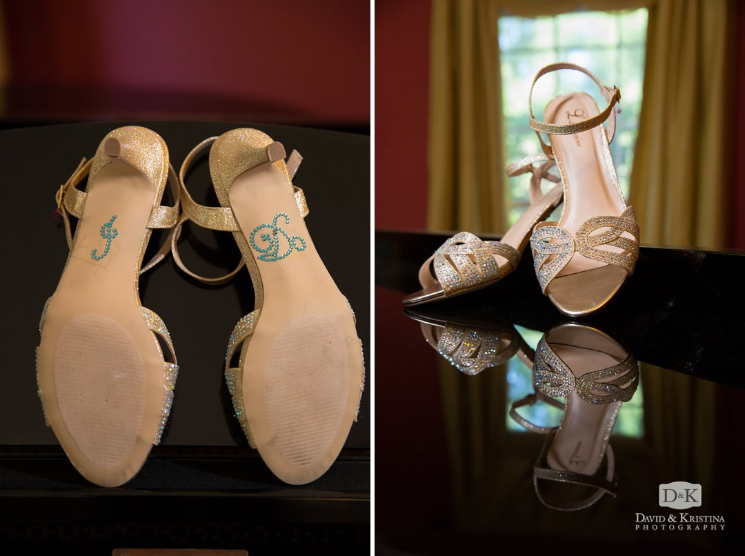 wedding shoes with I do on bottom