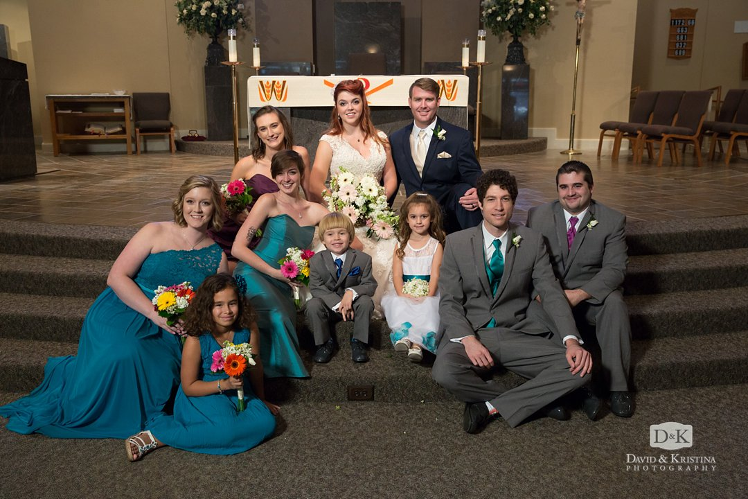 wedding party St. Mary Magdalene Catholic Church