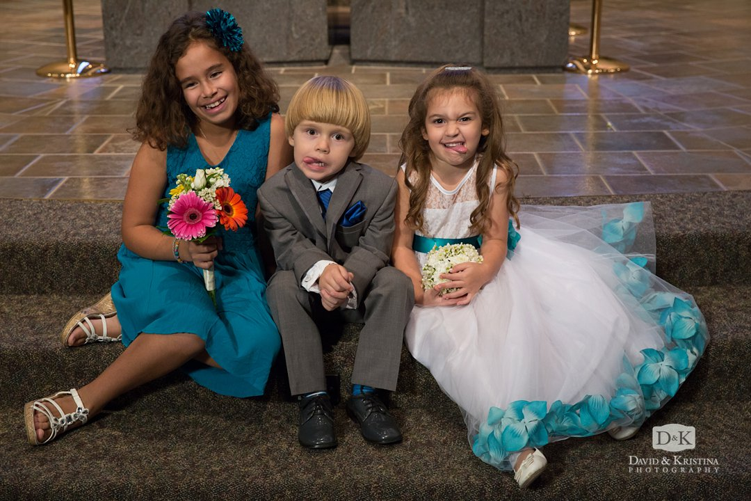 junior groomsman bridesmaid and flower girl