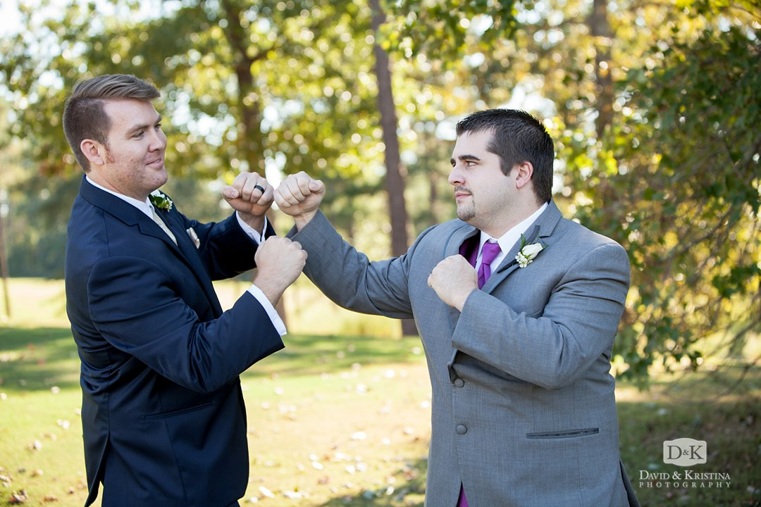Groomsmen fighting