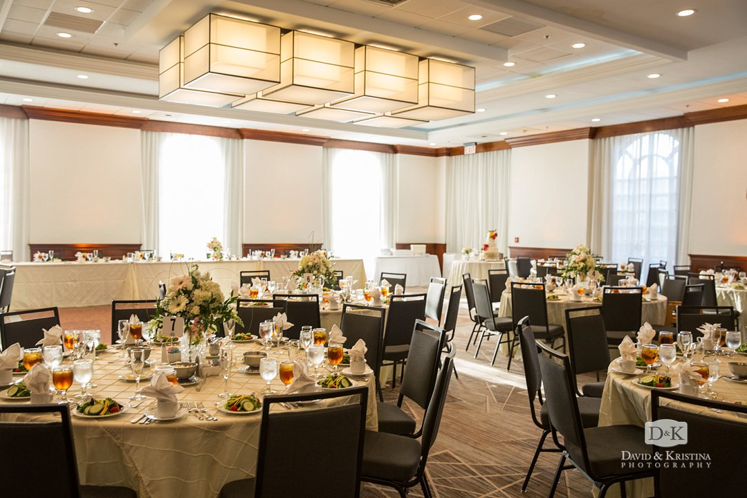 Embassy Suites Greenville Verdae Palmetto Club room wedding reception