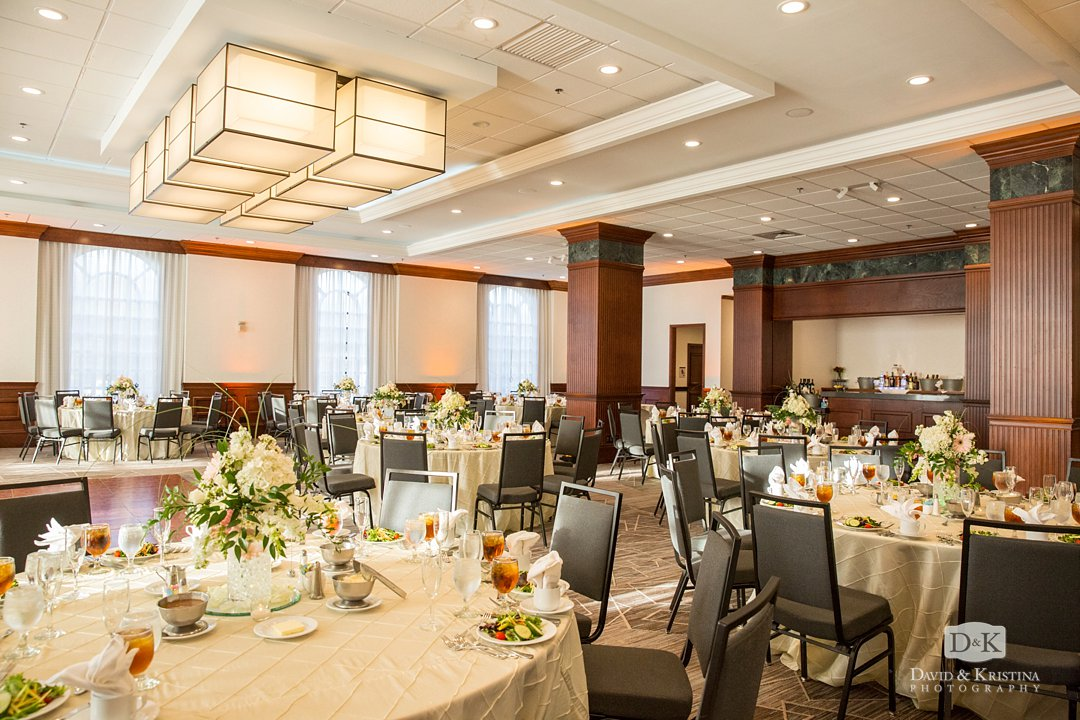 Palmetto Club room at Embassy Suites Greenville wedding