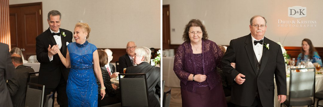 parents introduced at wedding reception