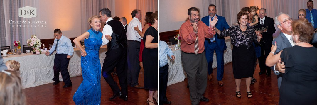 dancing during wedding reception