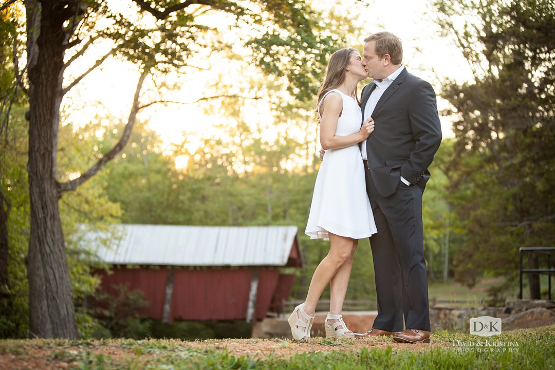 Engagement photo at Campbell's Covered Bridge
