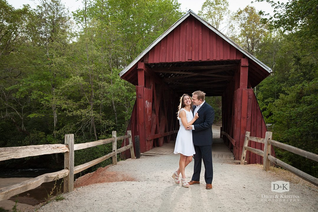 Kissing at Campbell's covered bridge