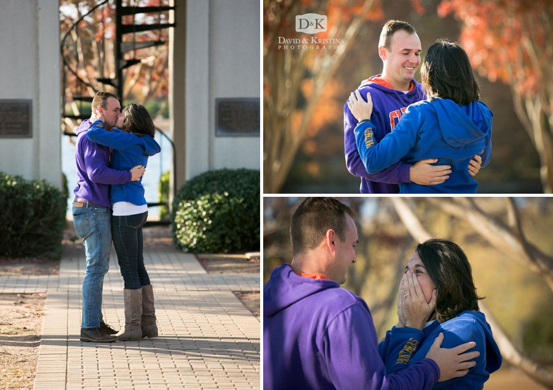engagment proposal at Furman Belltower