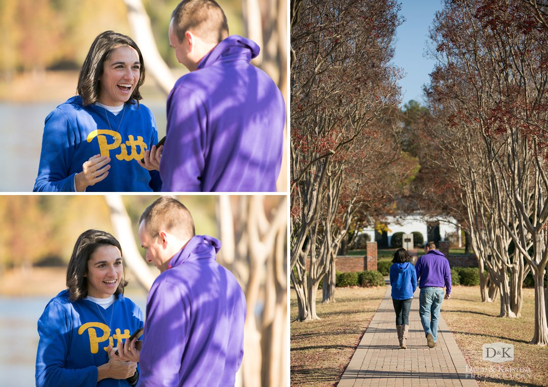 engagement proposal at Furman