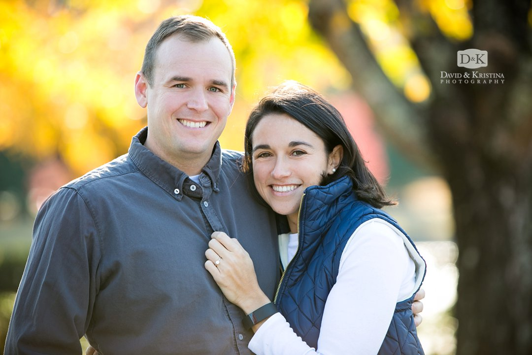 Furman engagement photos in the Fall