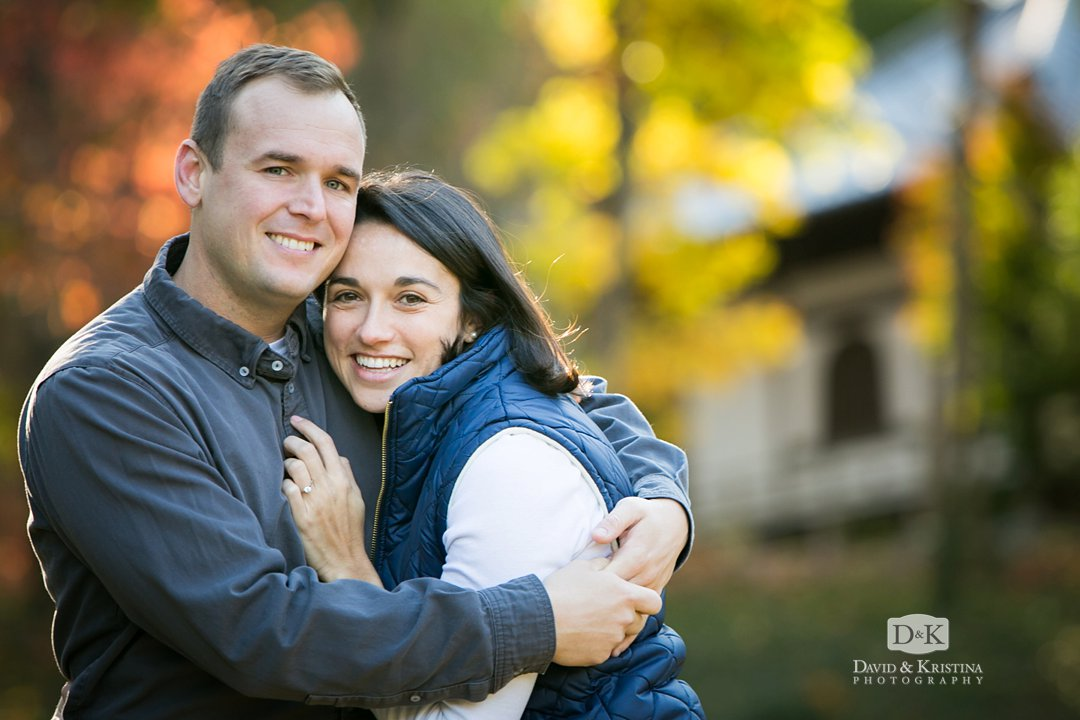 engagement photos at Asia garden at Furman University