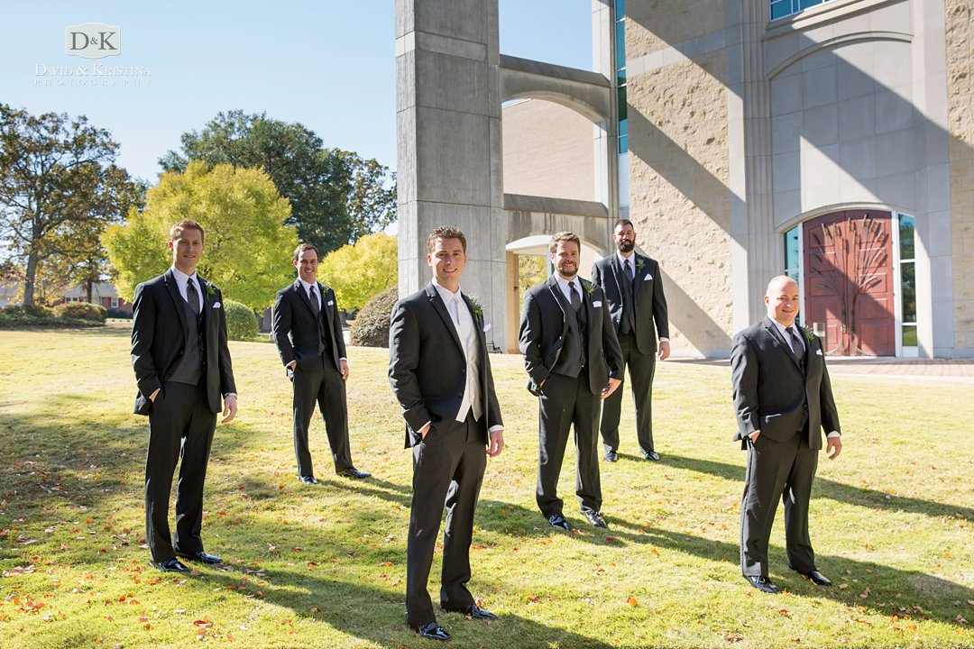 Ryan and groomsmen at Prince of Peace wedding