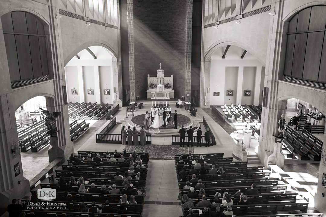 sanctuary of Prince of Peace Catholic church during wedding