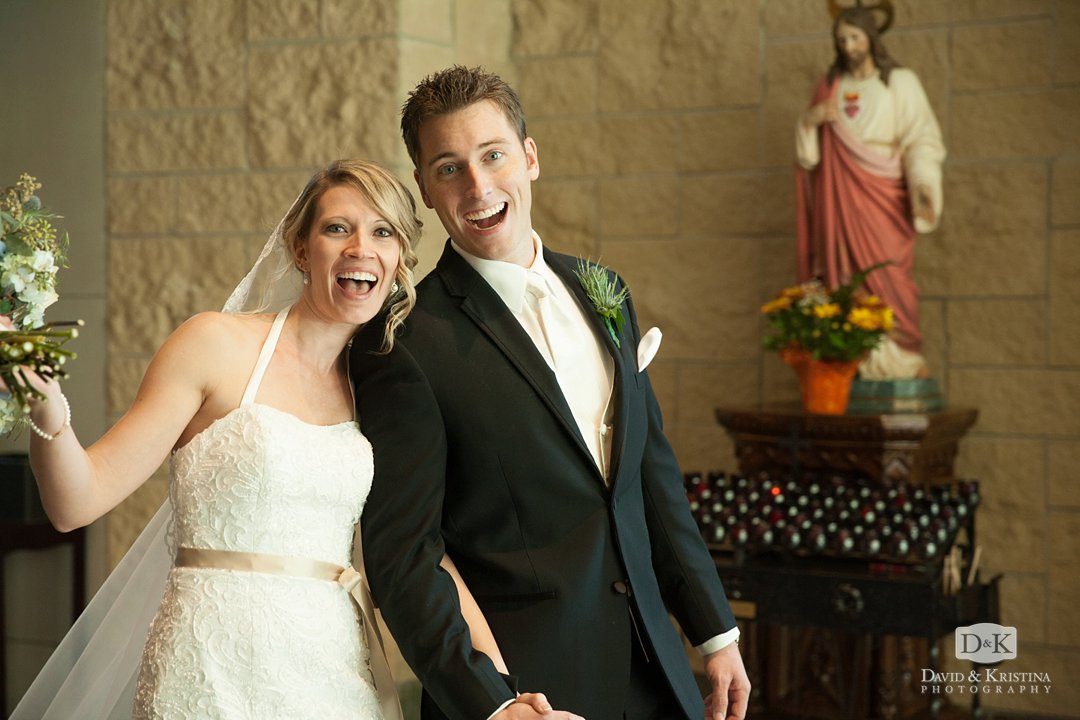 excited married couple