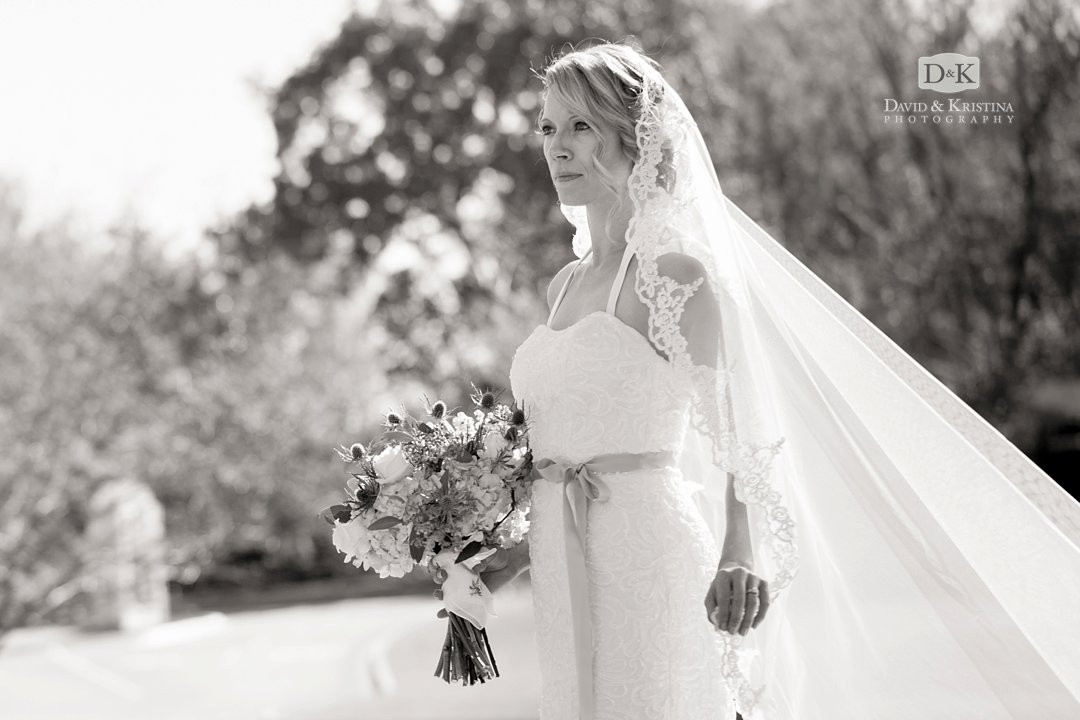 Chelsea wearing veil