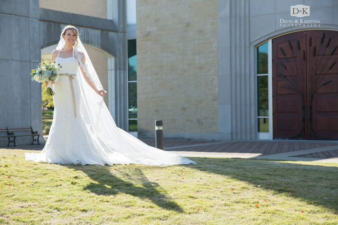 bridal portrait at Prince of Peace wedding