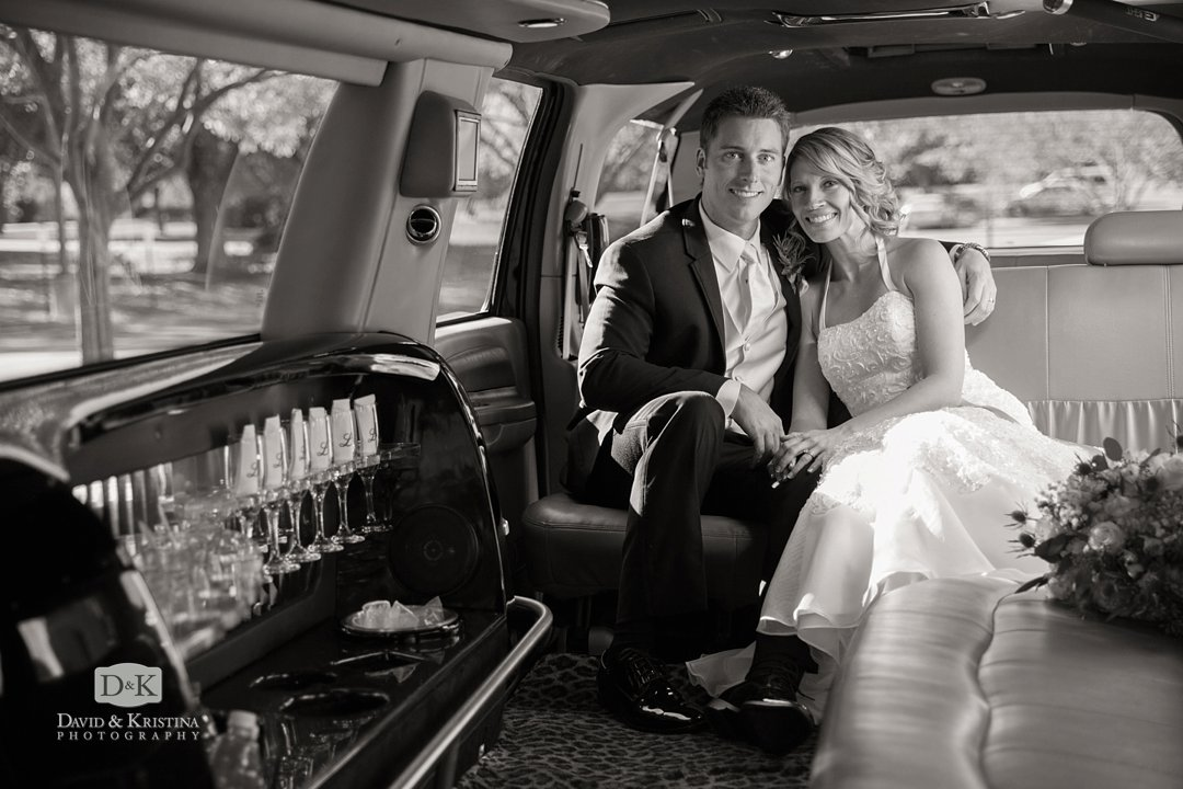 Ryan and Chelsea in Limo by Luxe Transportation