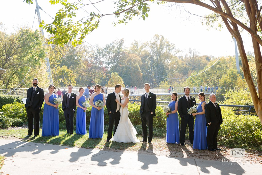 bridal part photo above Reedy River at Liberty bridge