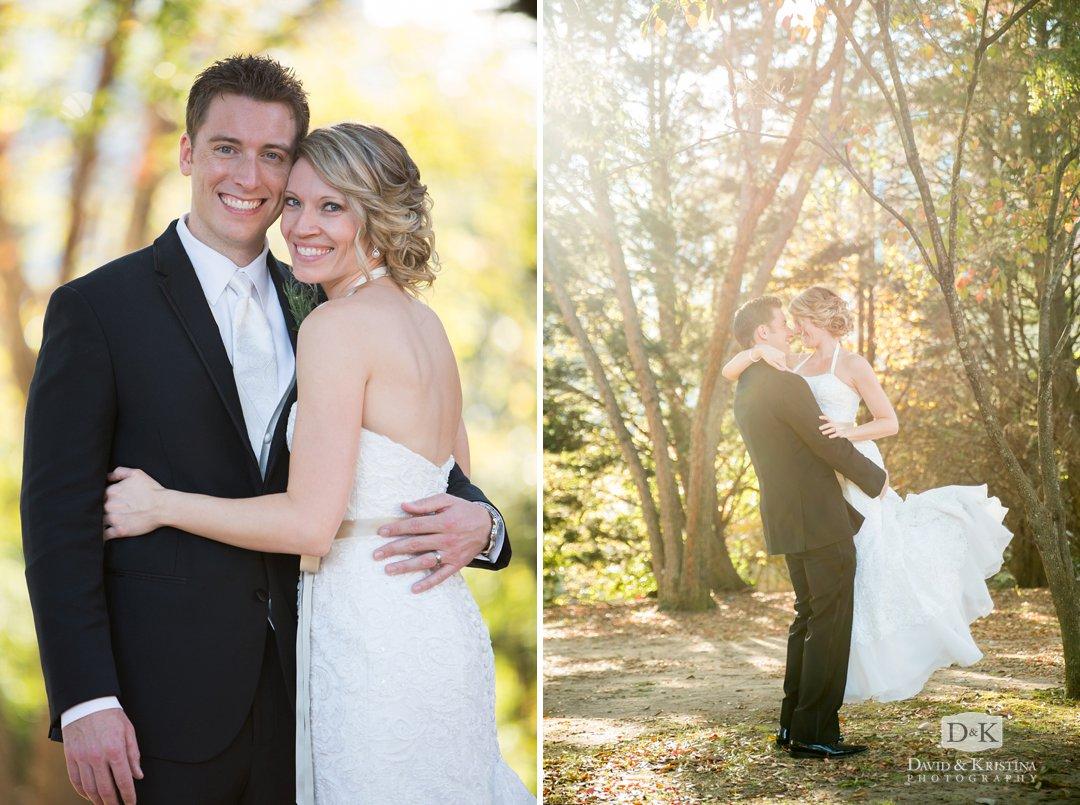 wedding photo behind Larkins at Reedy River