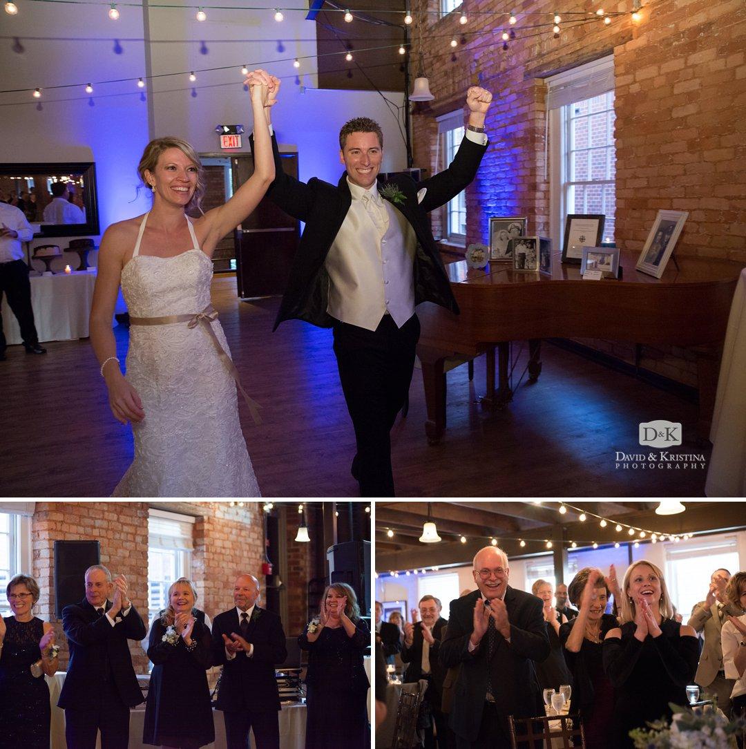 Ryan and Chelsea enter wedding reception