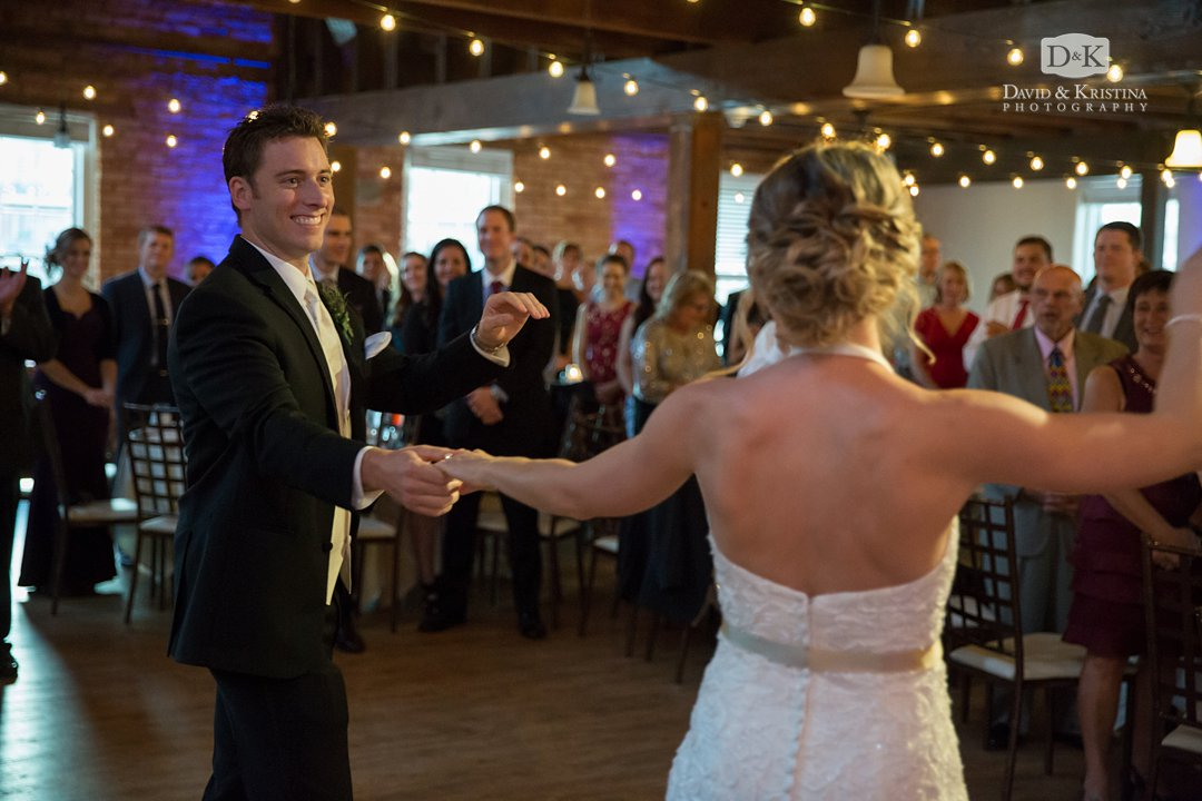 Presenting bride and groom in Cabaret Room at Larkins