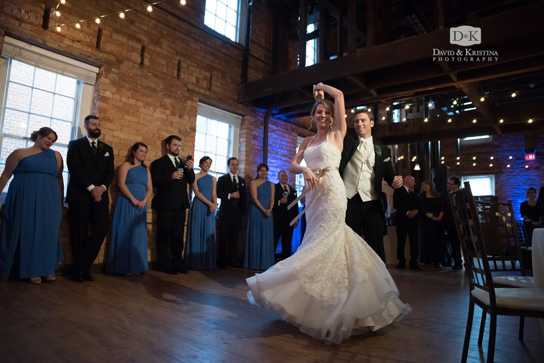 twirling during first dance