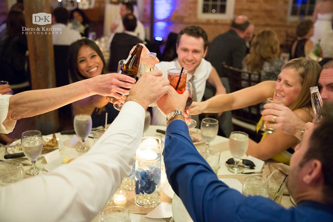 toast during wedding reception