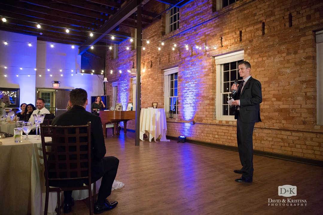 groom's brother gives toast
