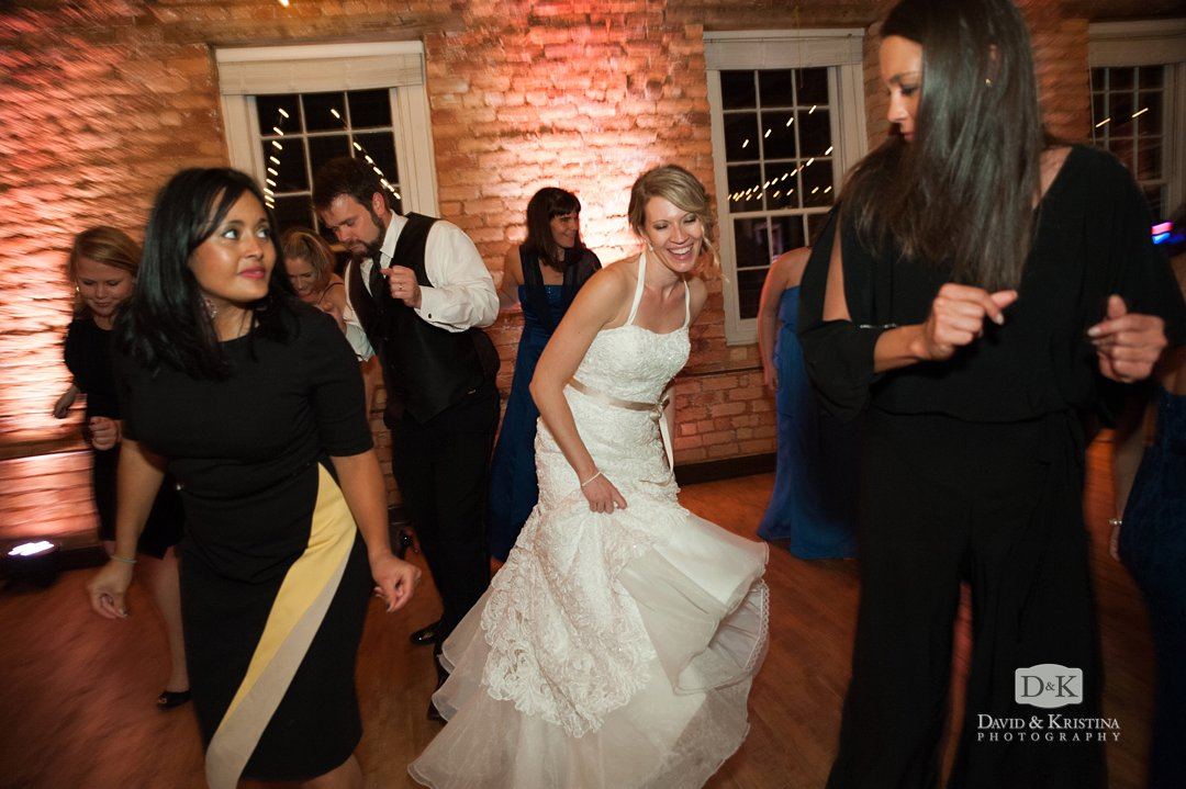 bride dancing at Larkins wedding reception