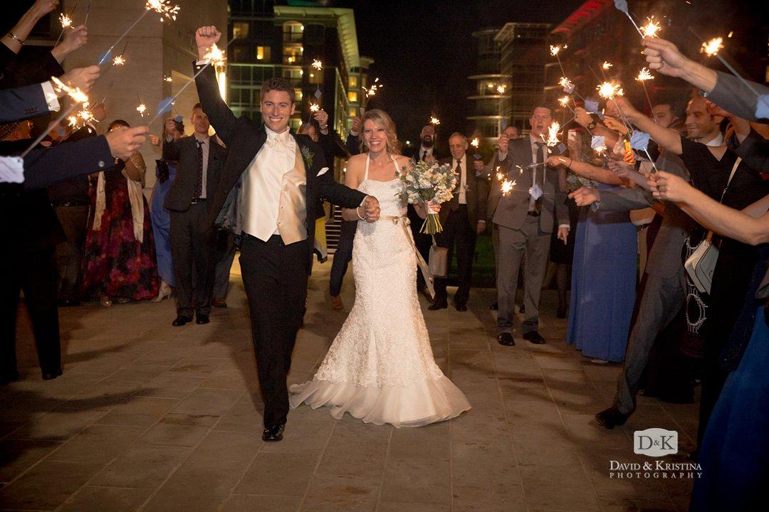sparkler exit at Larkins wedding