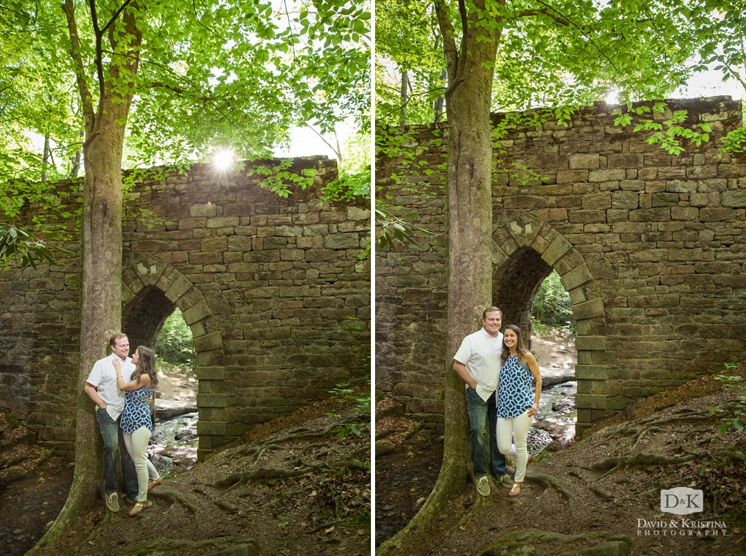 Kim and Trevor standing in front of Poinsett Bridge