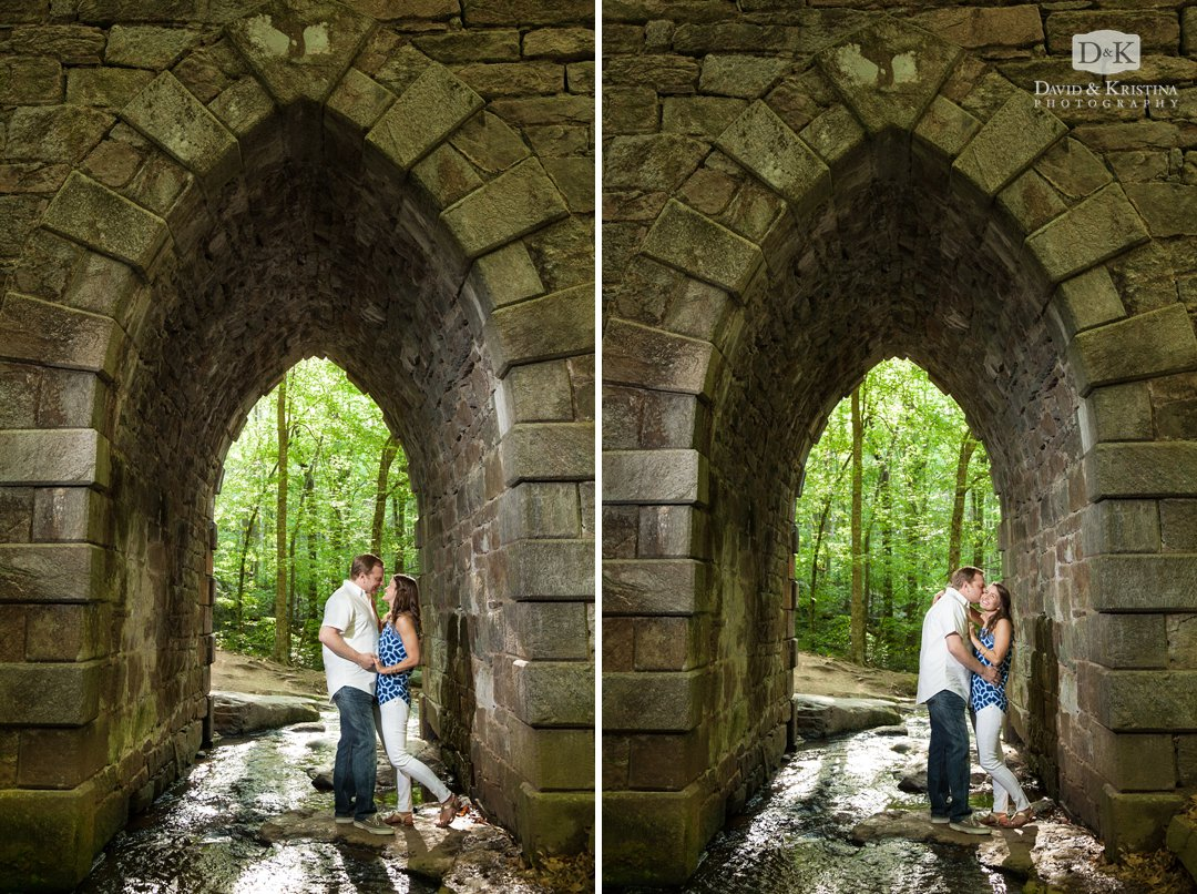 Trevor and Kim standing under Poinsett Bridge