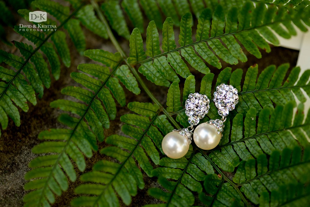 pearl earrings for bride