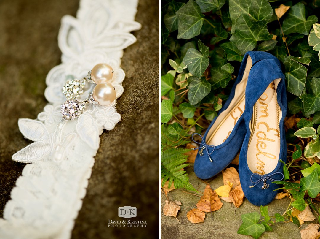 blue brides shoes