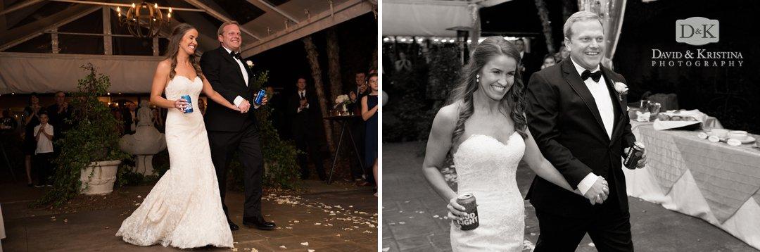 Trevor and Kim enter their reception