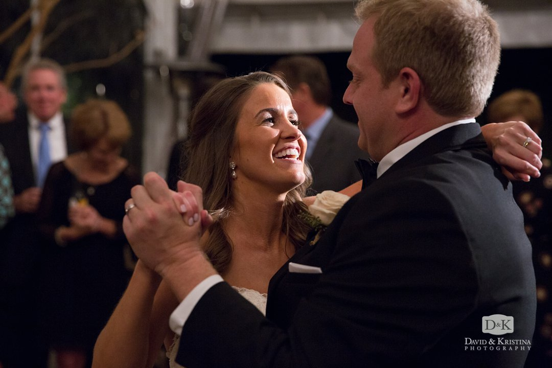 Kim and Trevor share their first dance