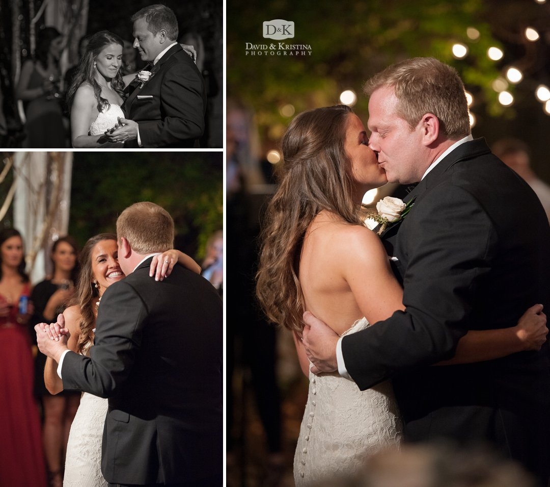 Kissing during first dance