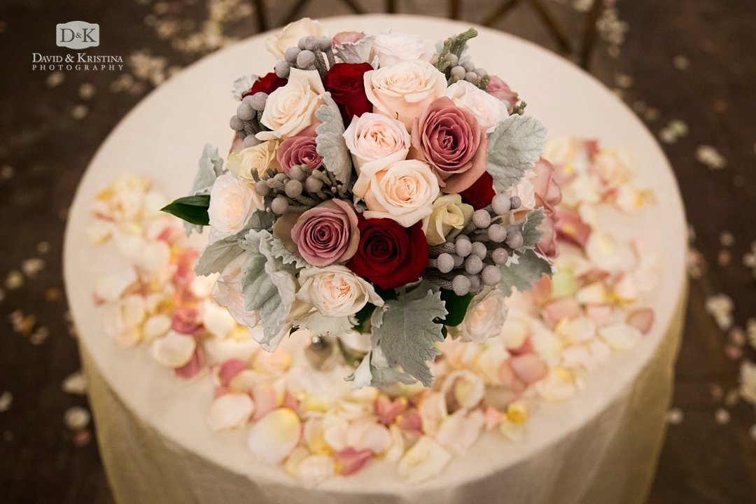 Bouquet of flowers at wedding by Twigs