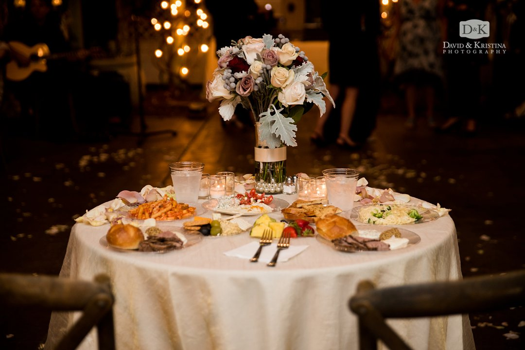 Bride and Groom sweetheart table at Twigs