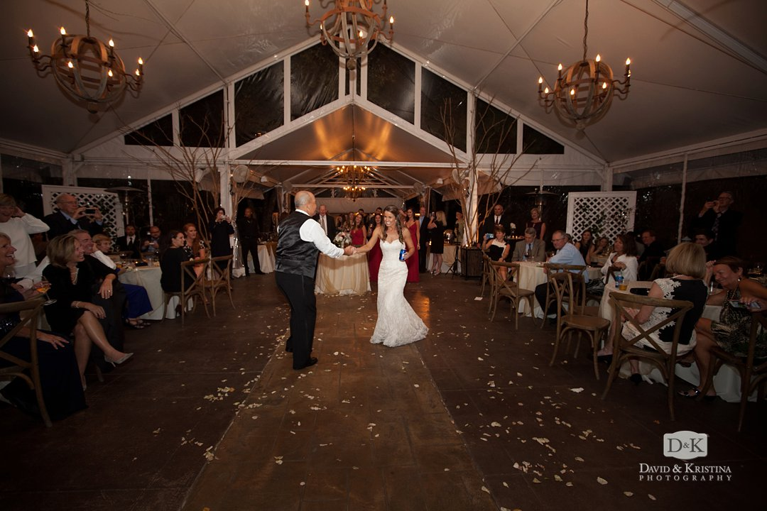 Kim dancing with her dad at her wedding