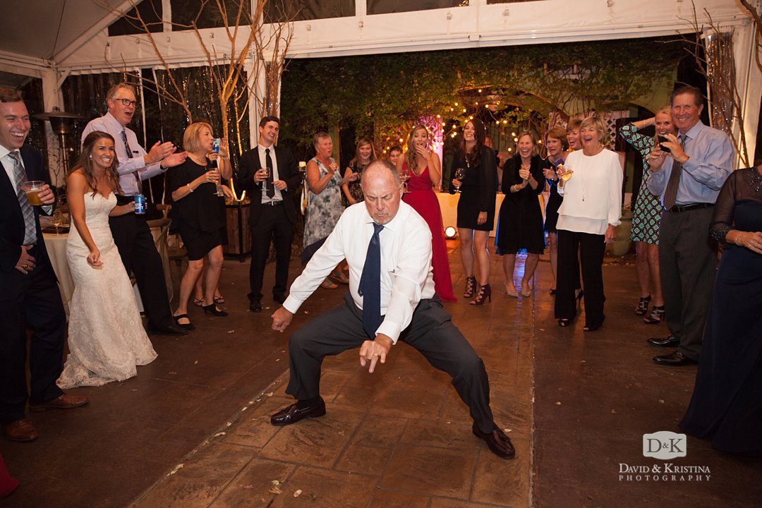 breaking it down on the dance floor at Twigs reception